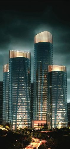 Chongqing Business Center Proposal, Chongqing, China by United Design Group #China ☮k☮ #architecture