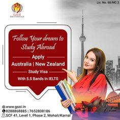 Study In Australia Australia Visa, Phase 2, Ielts, Chandigarh, Study Abroad, New Zealand, Dreaming Of You, Career, Bands