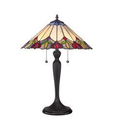 Quoizel Lighting Tiffany 2 Light Table Lamp in Authentic Bronze TF1434T | Quoizel Lighting Lights | Quoizel Lighting | Quoizel | Quoizel Tab...