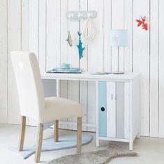 Bureau en bois blanc L 110 cm