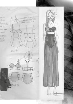sketchbook, inspiration, fashion, design, lingerie, teko, fashion drawing