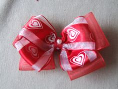 Valentine's Day  Bow by ang744 on Etsy, $4.00