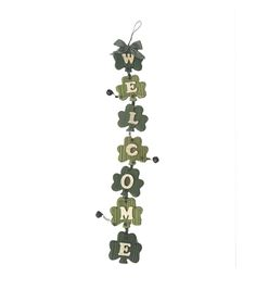 St. Patrick's Day Shamrock Vertical Decor-Welcome