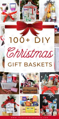, Fun Festive DIY Christmas Gift Basket Ideas - This Tiny Blue House , Spread some holiday cheer with these festive and unique DIY Christmas baskets. Here are over 100 fun festive DIY Christmas gift basket ideas for frie. Diy Christmas Baskets, Christmas Gift Baskets, Family Christmas Gifts, Homemade Christmas Gifts, Diy Gifts, Holiday Gifts, Christmas Crafts, Blue Christmas, Christmas On A Budget