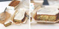 Herzfutter | Food-Blog : Saftiger Zucchinikuchen mit Frischkäseglasur