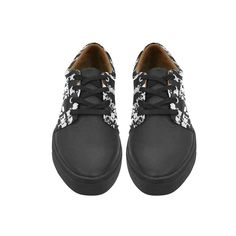 reputable site cb905 becc0 Lace Up Womens Shoes stunning black and white Womens Leather Fashion  Sneakers     You