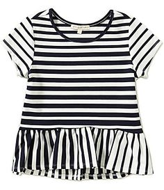Copper Key Big Girls 716 Striped Peplum Top #Dillards