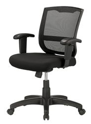An adjustable ergonomic office chair that won't break your budget! The Maze mesh chair by Eurotech Seating offers standard tilt tension control, center tilt, and tilt lock features designed to help users find the perfect sit.