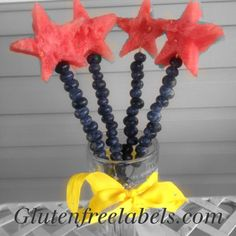 Here's a simple snack to bring to a party. It's so easy my 3 year old helped me! Cute Fruit, Niece And Nephew, Celiac, Fourth Of July, Glutenfree, Bring It On, Snacks, Simple, Birthday