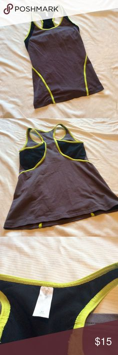 🆕 GapFit Gray Workout Tank GapFit Gray Workout Tank. Neon trip. Racerback. Excellent used condition - no flaws. Smoke free home :) ask questions, make an offer, and bundle bundle bundle!! GAP Tops Tank Tops