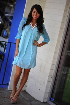 Easy, Breezy, Beautiful Dress: Sky Blue | Hope's