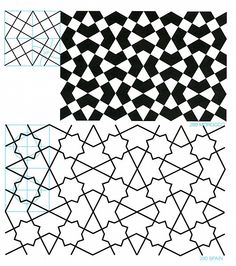 Pantern in islamisk art - GPB 019 : Geometric Patterns & Borders, David Wade Vector Pattern, Pattern Art, Abstract Pattern, Geometric Pattern Design, Geometric Designs, Geometric Drawing, Geometric Shapes, Arabesque, Art Optical