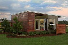 The Milan, a prefab modular home based on a standard shipping container, has 1 bedroom in 320 sqft.   www.facebook.com/SmallHouseBliss