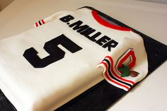 Ohio State Jersey Cake - Whipped Bakery would be cute to put his name on the jersey Ohio State Cake, Ohio State Jerseys, Football Cakes For Boys, Fondant, Sugar Love, State Foods, Custom Candy, First Birthday Cakes, Occasion Cakes