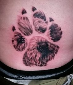 Forever Remembered: 42 Incredible Dog Memorial Tattoos – The Dogington Post - tattoo - 1 Tattoo, Ankle Tattoo, Get A Tattoo, Tattoo Shop, Tiny Tattoo, Tattoo Flash, Dog Tattoos, Animal Tattoos, Body Art Tattoos