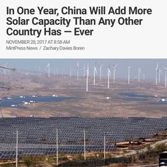 Its no secret #China has been installing #solarpanels at a record-breaking rate  its been happening for years now.  But in 2017 China took its solar drive even further deploying more PV capacity in one year than any other country has  or at least had at end of 2016.  Last week Bloomberg New Energy Finance revised upwards its projection for new solar capacity in China taking it from the pretty impressive 30GW it forecast in July to a gargantuan 54GW.  It appears that China exceeded BNEFs…