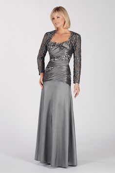 8. Crystal Beaded Mother of the Bride Dress…    Photo CreditThis mother of the bride dress is lovely for a formal, black tie reception in the city where she will sparkle under the night …