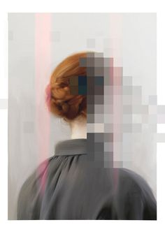Inspiration for reflections series.Barbara Baldi- think about identity, privacy, the parts of ourselves we keep hidden vs. Glitch Kunst, Glitch Art, Art And Illustration, Photomontage, Centre Des Arts, Art Picasso, Gcse Art, Rembrandt, Grafik Design
