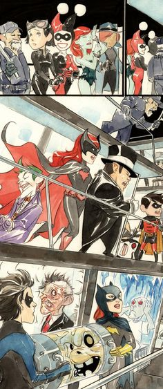 Detective Comics Annual #11 Lil' Gotham: Question & Answer page 2 by Dustin Nguyen. ((Batwoman has the Joker! I love it!!))