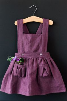 Ayla Toddler Pinafore Dress Vintage Girls Dress by blytheandreese