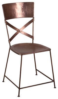 Jabalpur Dining Chair Antique Nickel eclectic-dining-chairs