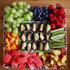 Green Gourmet Giraffe: Fruit salad for New Year's Eve