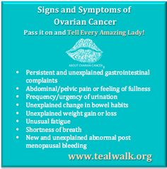 Tell Every Amazing Lady About Ovarian Cancer! Stage 3 Ovarian Cancer, Ovarian Cancer Symptoms, Ovarian Cancer Awareness, Endometriosis, Pcos, Breast Cancer, Quotes For Cancer Patients, Cancer Quotes, Cancer Facts