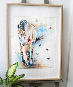 The Equine Artist Worldwide Animal Artist, Originals, Gifts and Prints. Watercolor Horse, Watercolour, Butterfly Art, Butterflies, Chloe Brown, Horse Artwork, Brown Art, Contemporary Artwork, Number 2