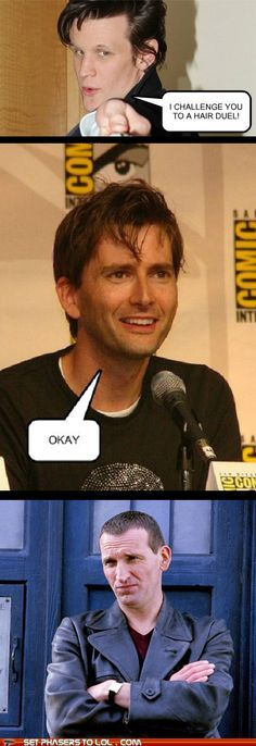 But if there is an ear or nose duel David and Matt are going down