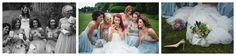 Vintage garden wedding Kirknewton Edinburgh bride red hair Romona Keveza dress ivory satin. Bodice buttons polka dot tulle bridesmaids Jenny Packham blue prom pastels spring bouquets gold christian louboutins