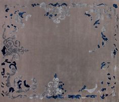 Tapis à motifs fait main rectangulaire RICHELIEU Collection Renaissance by EDITION BOUGAINVILLE