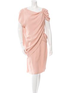 Prada Draped Knee-Length Dress