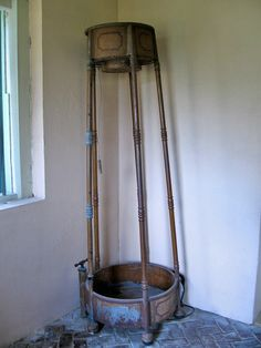 Antique portable shower, San Francisco Plantation