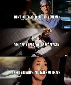Grey's anatomy. I cried so hard when this scene came :'( #twistedsisters4ever