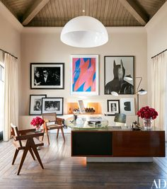 Office Arrangement Designs Modern Kourtney Kardashians Los Angeles Home Office Was Designed By Martyn Lawrence Bullard And Furnished With Architectural Digest 50 Home Office Design Ideas That Will Inspire Productivity Pierre Jeanneret, Home Office Design, Home Office Decor, House Design, Home Decor, Office Ideas, Office Inspo, Desk Ideas, Office Art