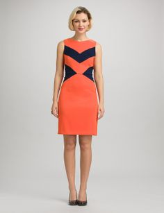 Misses | Dresses | Chevron Colorblock Dress | dressbarn