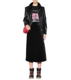 Ganni - Hayden quilted velvet skirt - mytheresa.com