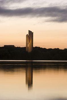 The National Carillon at sunrise, Canberra, Australia