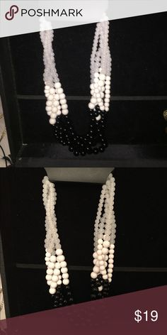 🆕 pearl necklace Necklace graduate in color from White to grey to black 18 inch very pretty Jewelry Necklaces