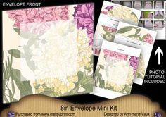 Ruffles Large Blooms 8in Envelope Mini Kit on Craftsuprint - Add To Basket!