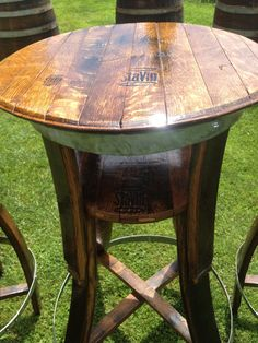 Choices in Outdoor Patio Furniture Sets – Outdoor Patio Decor Wine Barrel Coffee Table, Whiskey Barrel Furniture, Patio Furniture Sets, Outdoor Furniture, Furniture Ideas, Furniture Design, Repurposed Furniture, Rustic Furniture, Luxury Furniture