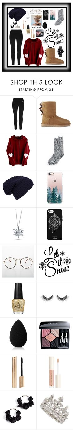 """""""winter"""" by raeremillard123 ❤ liked on Polyvore featuring USA Pro, UGG, Lands' End, WithChic, Casetify, BERRICLE, Fifth & Ninth, OPI, beautyblender and Christian Dior"""