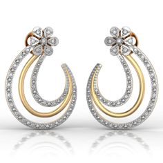 Best Online Diamond Jewellery store in India. Diamonds And Gold, Gold Earrings, Diamond Jewelry, Jewlery, Wedding Rings, Brooch, Elegant, Stuff To Buy, Bride