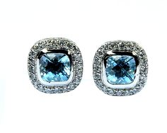 925 Solid sterling Silver Natural Faceted Blue Topaz CZ Gemstone Men's Cufflinks by RATNAMARTS on Etsy