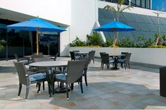 Rooftop seating at the Hilton Miami Downtown