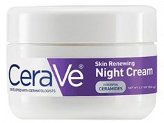 CeraVe Skin Renewing Night Cream oz Facial Moisturizer with Niacinamide and Peptide Complex to Soften Skin Cerave Night Cream, Homemade Moisturizer, Face Lotion, Vaseline, How To Apply, Beauty, Facial, Amazing, Facial Treatment