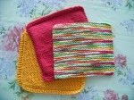 How to keep bright colored knitted or crocheted cotton dishcloths from fading when washing...