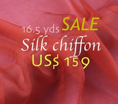 DIY Wedding: Fabric. FREE Shipping Silk. 16.5 yards. Orange Chiffon by fabricAsians