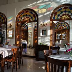 Café masoudieh Tehran Tehran The. Persian Architecture, Architecture Design, Iran Travel, Persian Pattern, Tehran Iran, Coffeehouse, Cafe Design, Islamic Art, Amazing Places