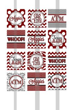 Texas A&M 1 Square Collage sheet for Tile by tamarabennett7